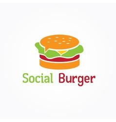 social burger design template vector image
