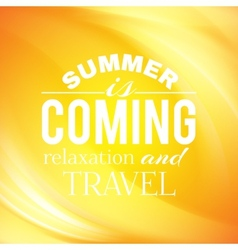 Summer coming phrase over wave backgroud vector