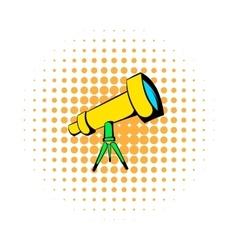 Telescope icon comics style vector image vector image