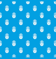 tribal mask pattern seamless blue vector image vector image