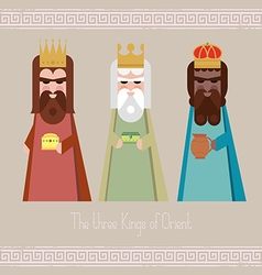 The three Kings of Orient wisemen vector image