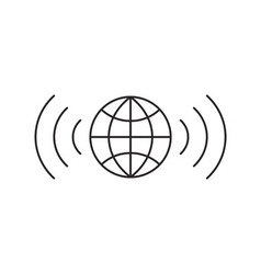 Wireless icon outline vector image