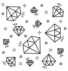 diamond background black line style vector image