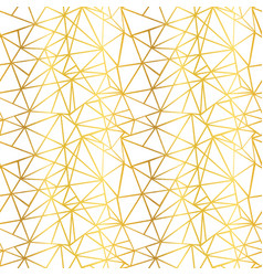 White and gold foil wire geometric mosaic vector