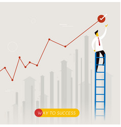 Businessman climbs the stairs vector