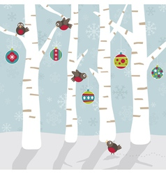 Christmas forest vector