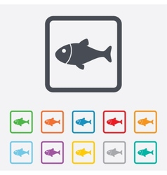 Fish sign icon fishing symbol vector