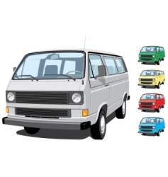 mini van vector image