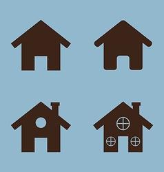House icon set vector