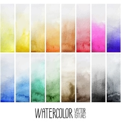 Watercolor gradient rectangles vector image