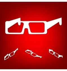 Glasses icon with isometric effect vector