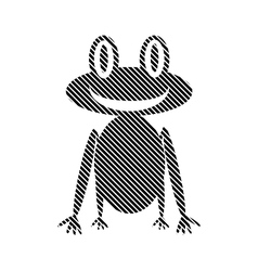 Frog sign on white vector