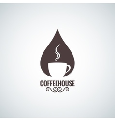 Coffee cup drop logo background vector