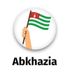 abkhazia flag in hand round icon vector image vector image