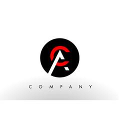 ac logo letter design vector image vector image