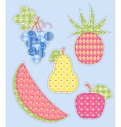 application fruits set vector image