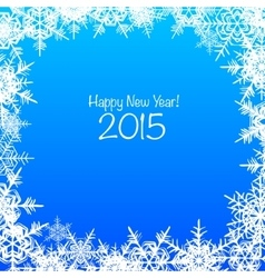 Blue and white Merry Christmas background vector image