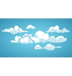 Blue sky and white clouds vector image