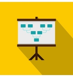 Board with team formation icon flat style vector