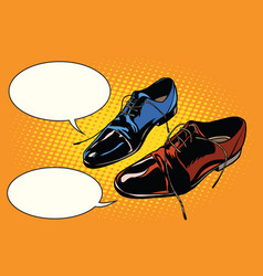 Business meeting classic shoes vector
