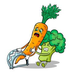 carrot in trap pop art vector image vector image