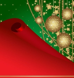 christmas frame with balls vector image vector image