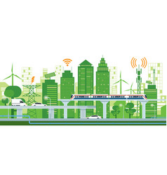 Cityscape with infrastructure and transportation vector