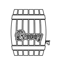 Contour barrel icon image design vector