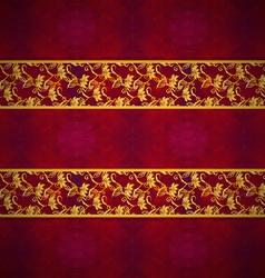 Decorative banner floral vector