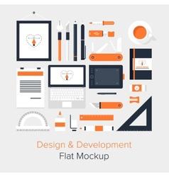 Design and Development vector image
