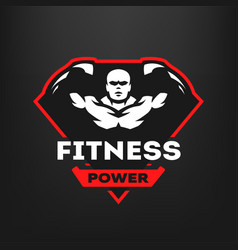 energy fitness sports logo vector image