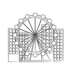 ferris wheel icon image vector image