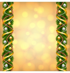 fir-tree decoration vector image vector image