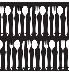 Fork Knife and Spoon Seamless Pattern vector image vector image
