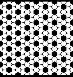 Geometric seamless pattern hexagons triangles vector