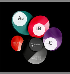 glass circle abstract background vector image