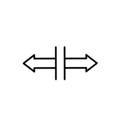 Horizontal split icon vector
