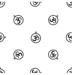 indian coin pattern seamless black vector image vector image