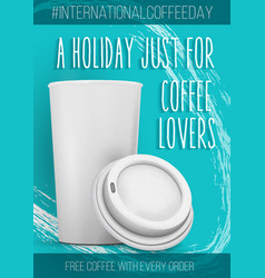 International coffee day banner template vector