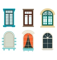 Isolated open window with sash and frame vector image vector image