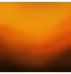 Knitted orange background vector image