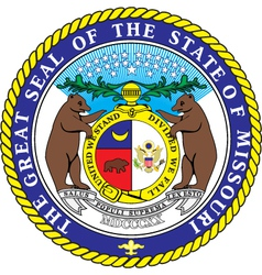 Missouri Seal vector image vector image