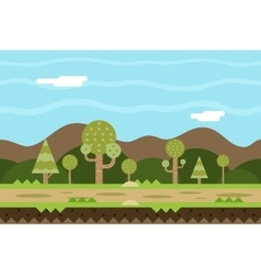 Seamless Road Nature Concept Flat Design Landscape vector image vector image