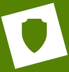 Shield sign white icon vector