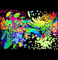 Splash abstract colorful cover background on black vector
