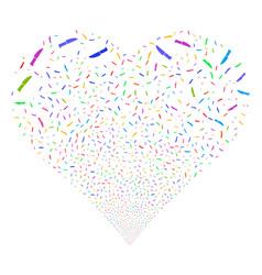 surgery knife fireworks heart vector image