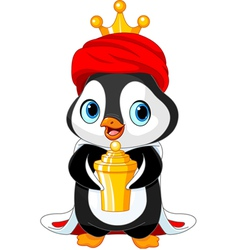 The penguin as a biblical magi vector