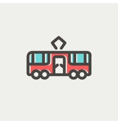 Tourist bus thin line icon vector image vector image
