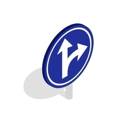 Turn right road sign icon isometric 3d style vector image vector image