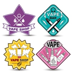 Vape life labels vector